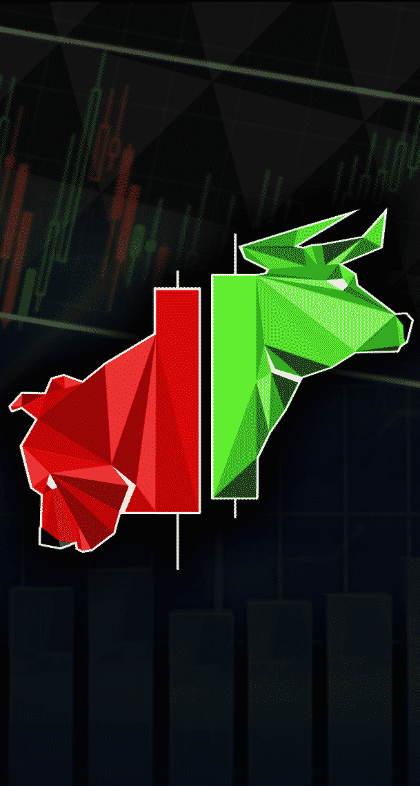 eToro review - Green and red bull