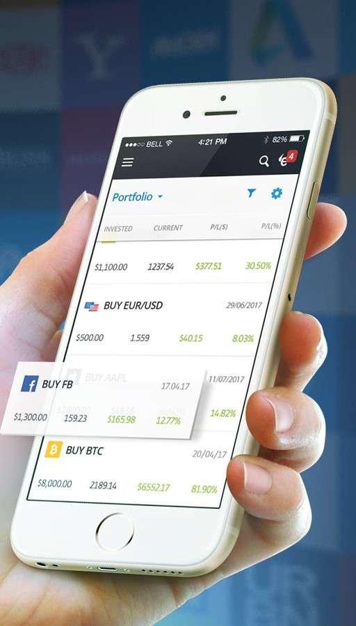 eToro review - app
